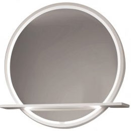Круглое зеркало с полкой